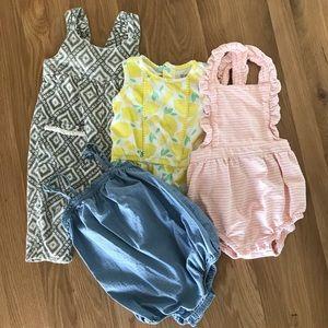 12 month Baby Girl 💖 Romper Bundle